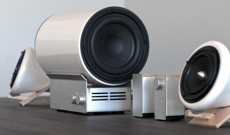 Ceramic Speakers and Subwoofer by Joey Roth