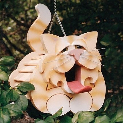 Wooden Cat Birdhouse Plan and Templates by storybookdesign on Etsy