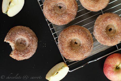 Whole Grain Apple Cinnamon Baked Donuts by Chocolate & Carrots - bakedbyrachel.com