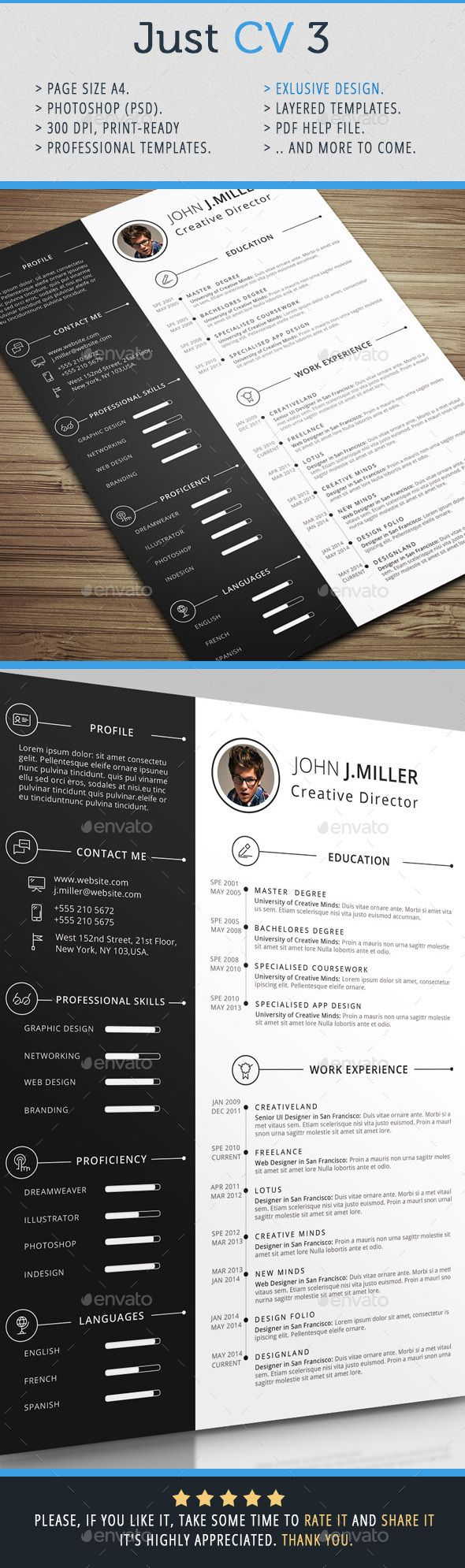 just cv 3 resumes stationery - Simple Format Of Resume