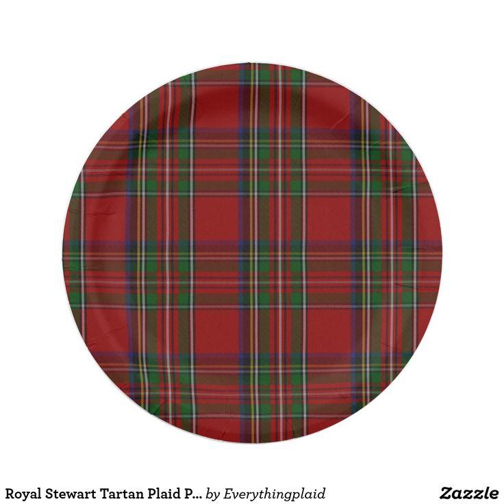 Royal Stewart Tartan Plaid Paper Plate