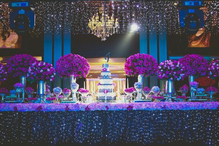Decoração de luxo festa 15 anos