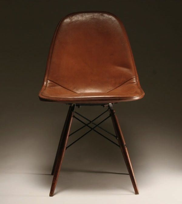 112 best images about leather chairs on pinterest for Leather eames dining chair