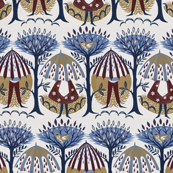 Umbrellas Wallpaper by Wendy Bray for Warner Archive Textile out on 8th November 2012