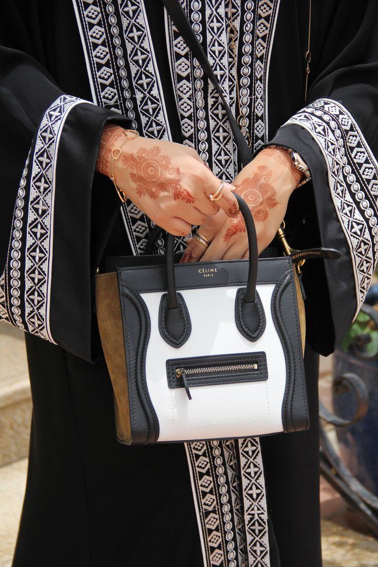 DAS Collection Abaya and Celine Nano Bag