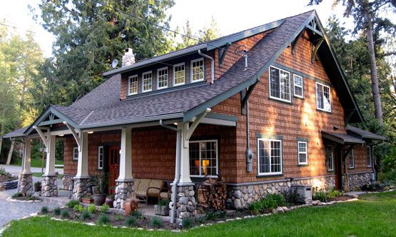 Swiss chalet craftsman arts crafts homes newsletter - Arts and crafts style homes ...