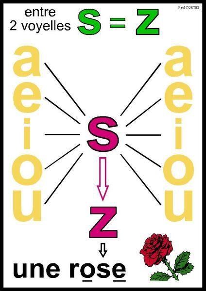 Entre 2 voyelles S se prononce Z.