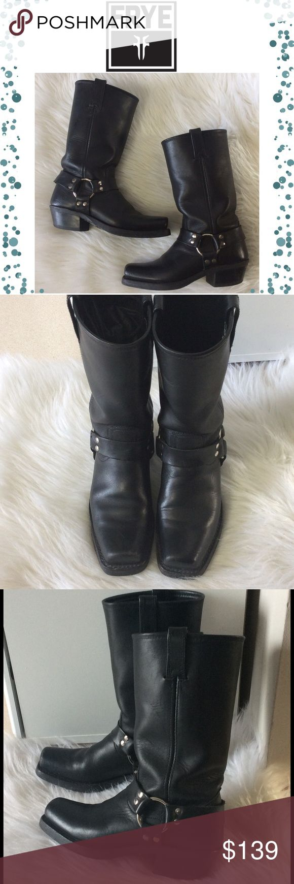 Frye Riding Boots Black Frye riding boots in very good preowned condition. They show some wear on soles, heels and sides as shown in pictures. Reasonable offers are welcome. Box is not included Frye Shoes Heeled Boots
