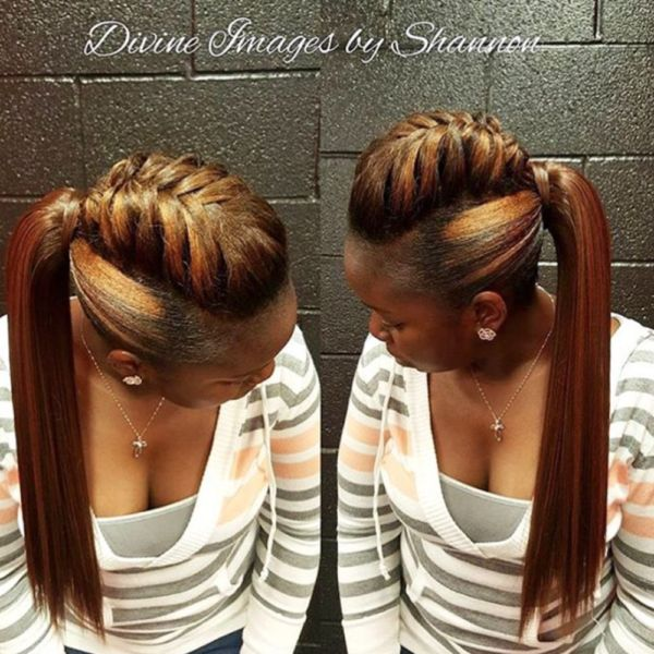 Creative ponytail via @DivineImagesByShannon - Black Hair Information Community