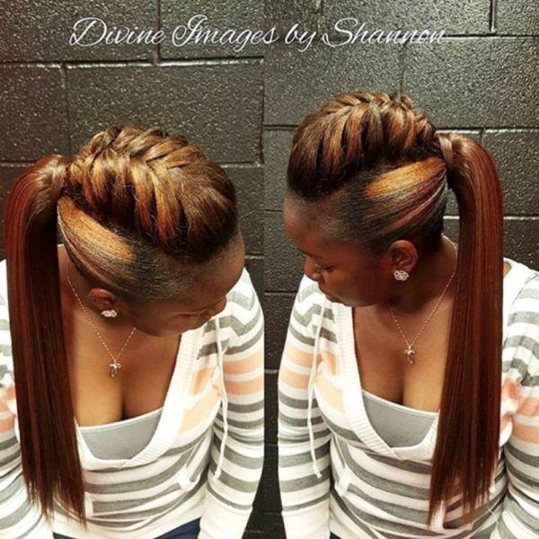 Peachy 1000 Ideas About Black Ponytail Hairstyles On Pinterest Short Hairstyles Gunalazisus