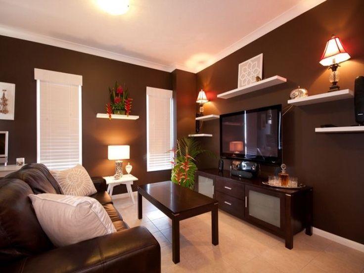 Best 25 shelves around tv ideas only on pinterest media - Decorating wall shelves in living room ...