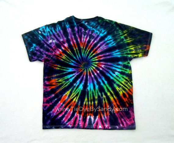 Tie Dye Shirt Inverted Rainbow Spiral by TieDyeBySandy on Etsy, $19.99