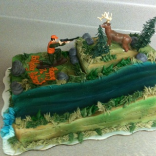 Hunting Theme Birthday Cake This Was Actually Made At Walmart With Ideas From A Couple Of Other Cakes And Came Up It