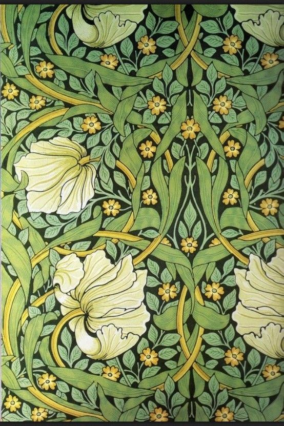 William Morris, papel de pared para una habitación de trabajo.