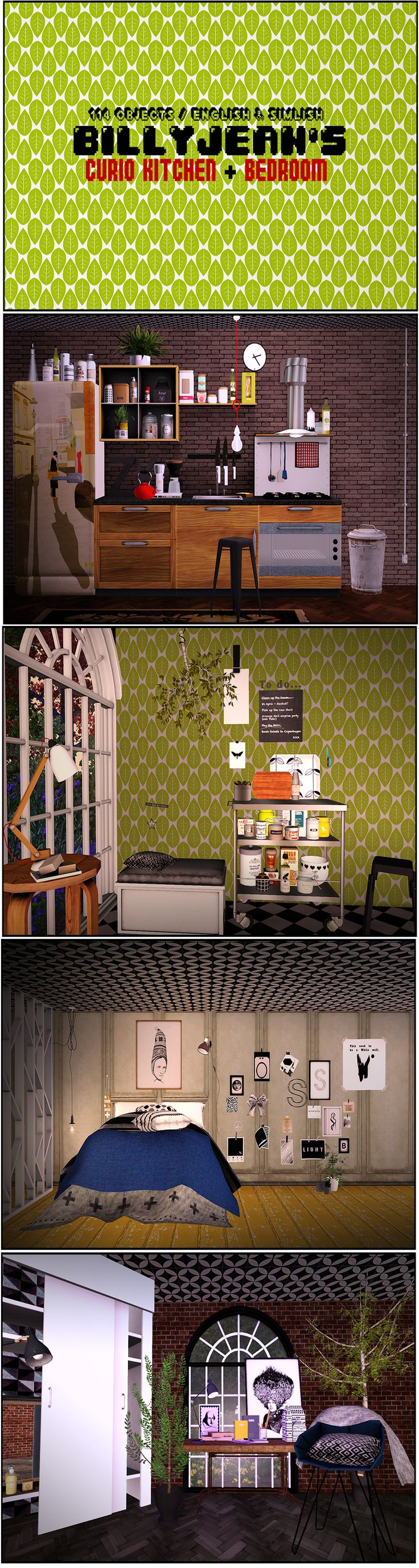 206 best images about sims 3 on pinterest dots sims 4 and warm - Sims 3 Billyjean S Curio Kitchen Bedroom Download At Http Www