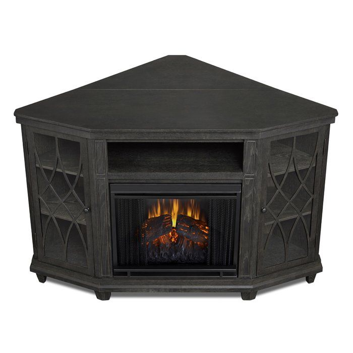 Corner Unit Tv Stand For Tvs Up To 60 With Electric Fireplace