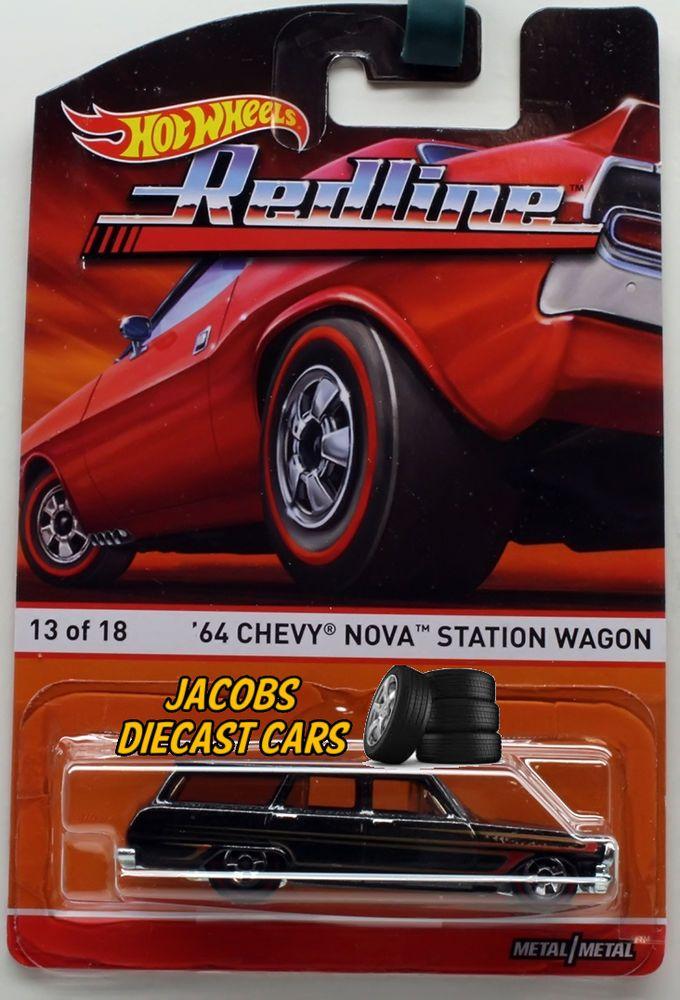 1 64 Hot Wheels Heritage Redline F Case 64 Chevy Nova Station Wagon Hot Wheels Cars Toys Hot Wheels Toys Hot Wheels Garage