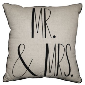 Spencer 39 39 Mr Mrs 39 39 Throw Pillow Matron Wedding