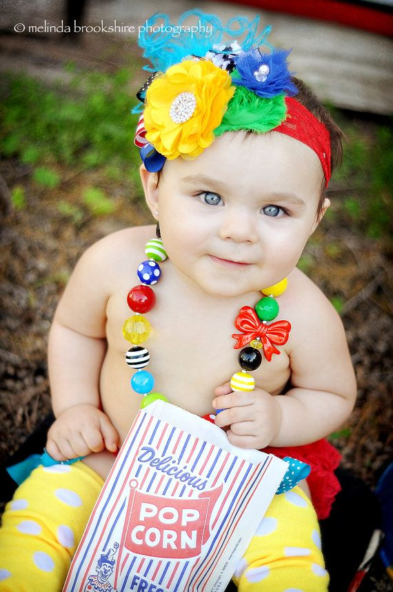 Kati-Baby necklace chunky necklace Big Top Circus by MudpiesandPigtails