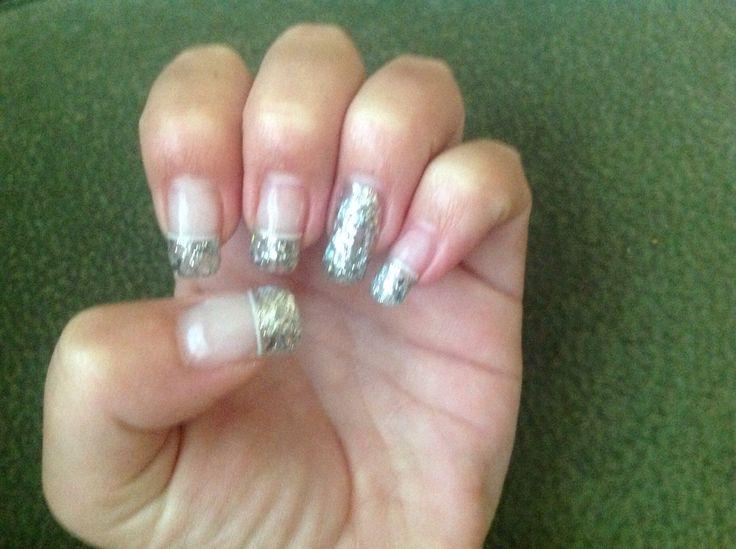 Silver Glitter/French