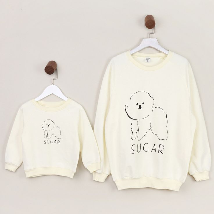 Spring cartoon hoodies Mom/baby Pullover Family Matching Outfits T Shirt Boy and Girl cute little dog Pattern Cotton Sweatshirt