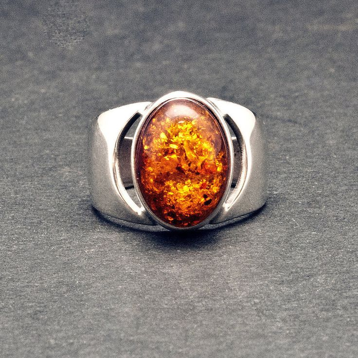 Excited to share the latest addition to my #etsy shop: Amber Ring, Mens Sterling Silver Wide Band Ring & Natural Baltic Honey Amber, Solitaire Chevalier Gemstone Unisex Ring, Amber Jewelry https://etsy.me/2DYm71Z #jewelry #ring #unisexadults #amberring #sterlingsilverr