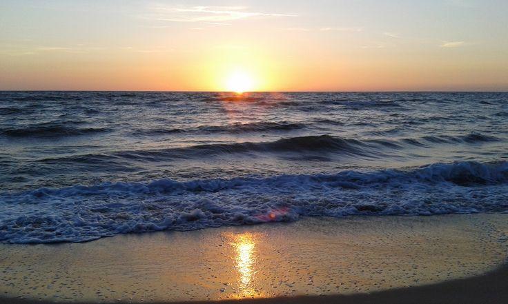 Sunset on Baltic Sea
