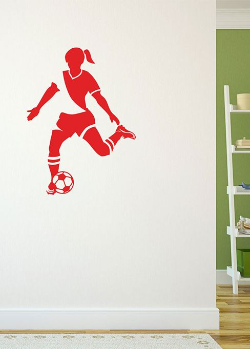 This soccer removable wall decal takes any space from boring to sports  inspired! Add some