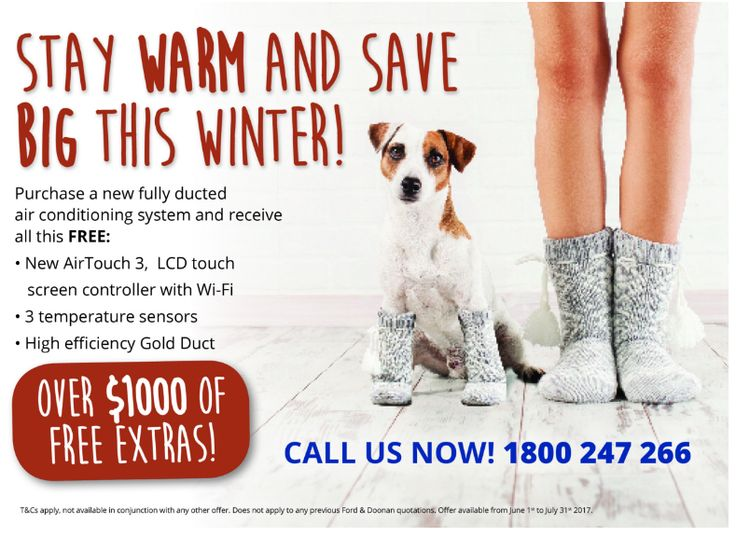 Stay warm and save big this winter! Find out about our current promotions this season -https://fordanddoonan.com.au/promotions/