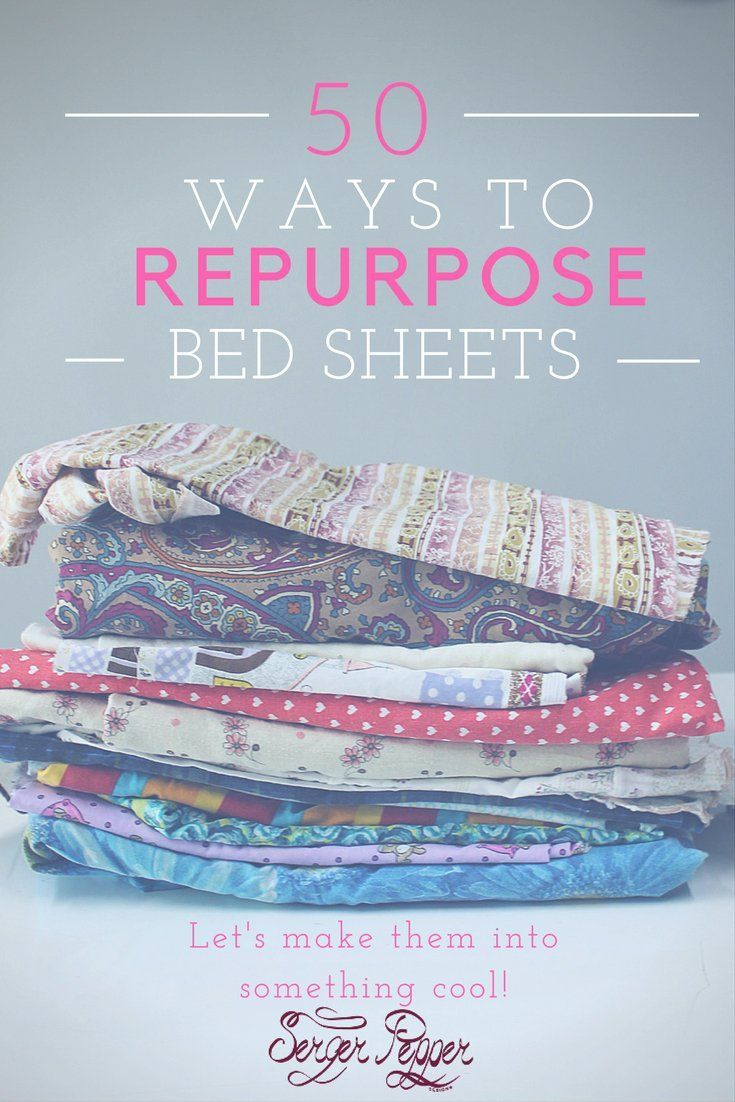 Are you ready for a memorable round-up of more than 50 uses for your vintage bed sheets (or just plain old bed sheets)? 50 things to know about repurposing old vintage bed sheets... only on SergerPepper.com