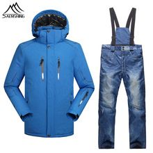 US $107.30 Hot Sale Men Winter Ski Suits Thermal Warmth Snowboarding Jacket Thicken Warm Ski Pants Waterproof Windproof Snow Sports Clothes. Aliexpress product