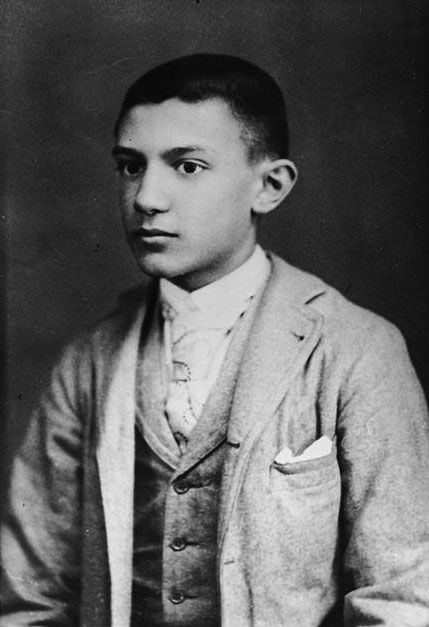 "chagalov:  "" Picasso, aged 15 (ca 1896) - Studio Photo  [poss. at Barcelona] - see also rdenker  """