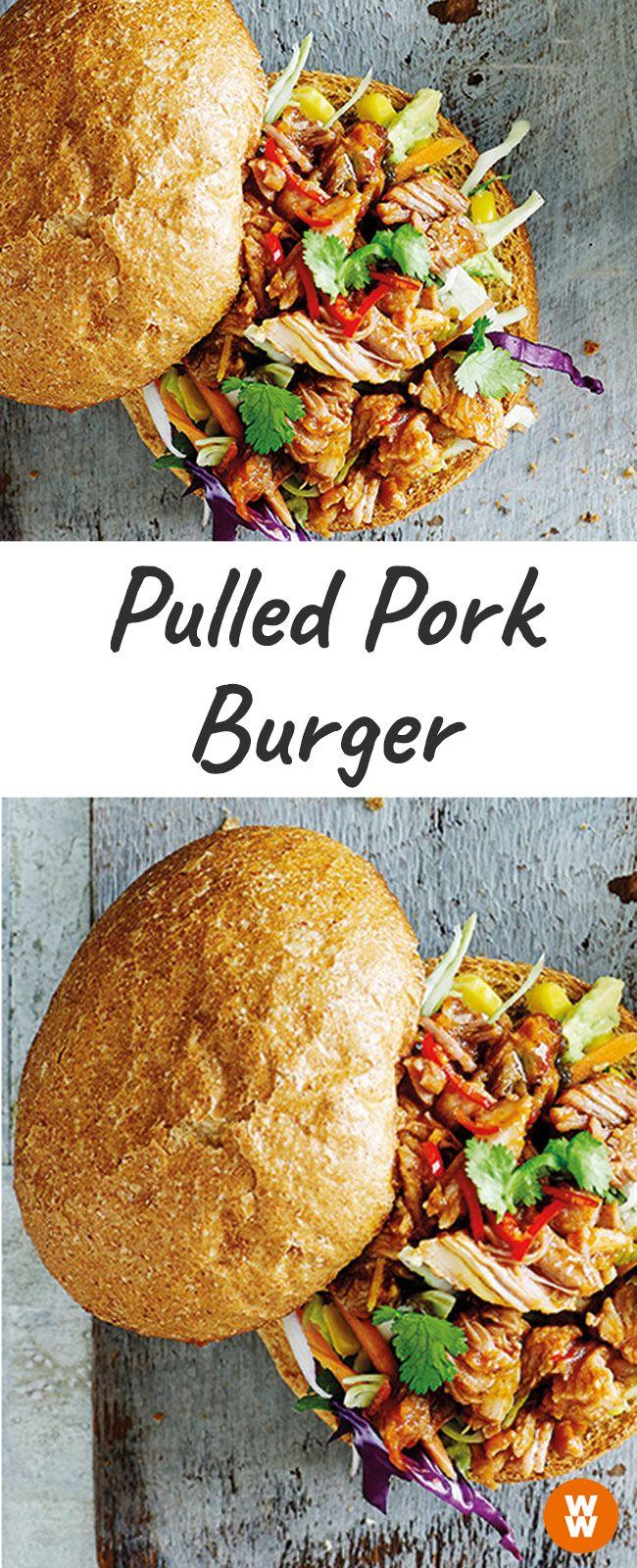 Pulled Pork Burger, Burger, Rezept | Weight Watchers
