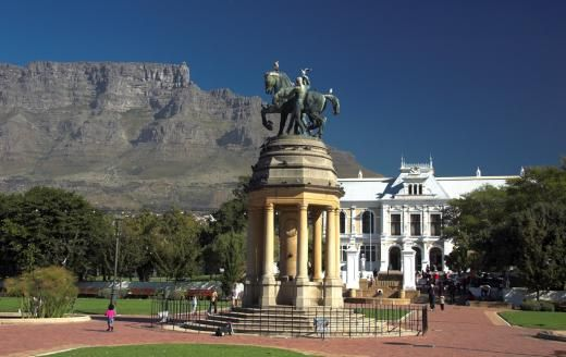 The Delville Wood memorial in the Companys Garden Cape Town