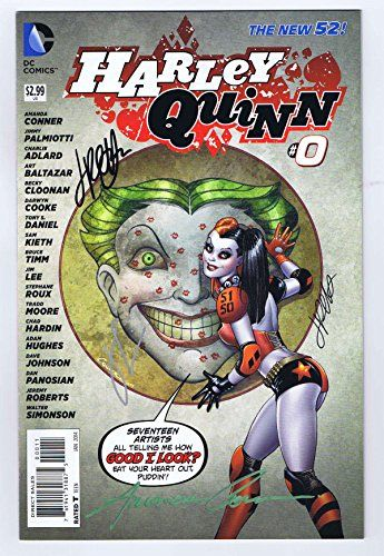 Harley Quinn #0 Signed by Amanda Conner, Jimmy Palmiotti & Chad Hardin 2013 DC Comics VF/NM. By: Jimmy Palmiotti, Chad Hardin Amanda Conner. COA included. Signed by 3 creators. Harley Quinn #0 Signed by Amanda Conner, Jimmy Palmiotti & Chad Hardin 2013 DC Comics.