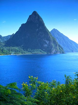 The Pitons, St. Lucia, Windward Islands, West Indies, Caribbean ...