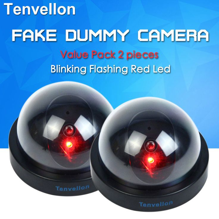 Waarde Pack 2 stks Dummy CCTV Camera Flash Knipperend LED Fake Camera Beveiliging Gesimuleerde video Surveillance fake camaras de seguridad