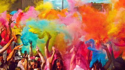 "#festivalslssForAll: Festival of Vibrant Colours "" Holi "" !!! #india #indian #festival #colours #Lord Radha Krishna #colour"