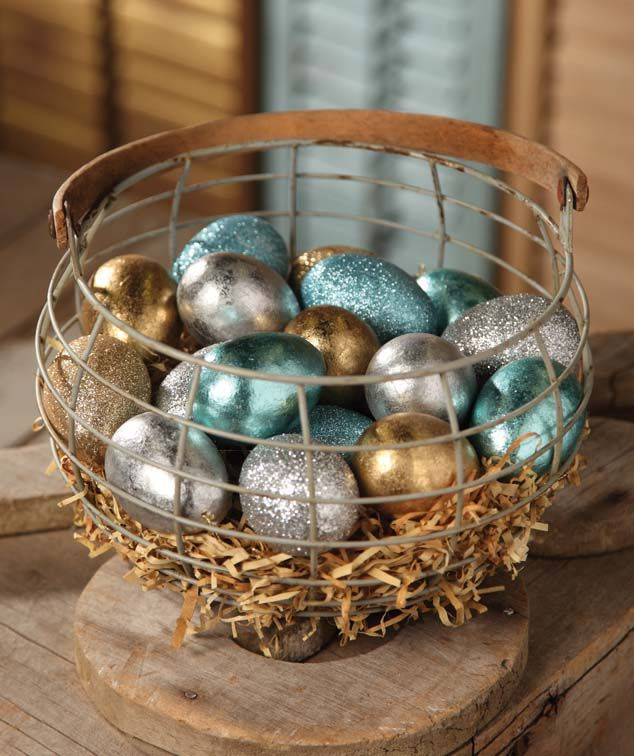 vintage foil eggs   Add to a new shopping list