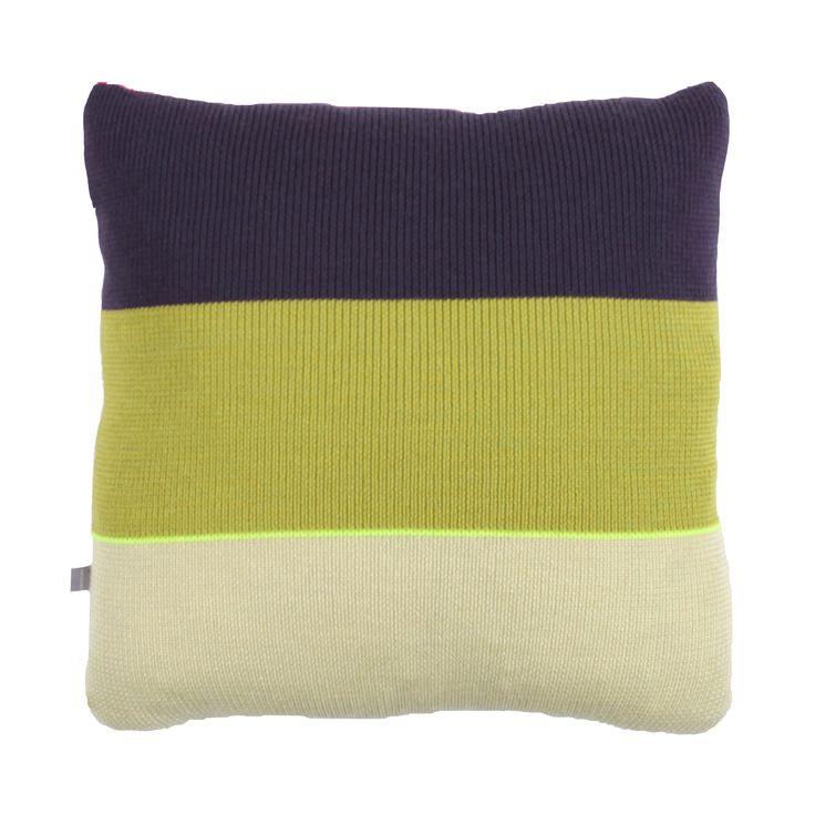 Strictly Knit Cushion 1-002-005  Product materials: 95 % wool / 3 % viscose / 2% pl. Dimensions: 45x45 cm (18x18 inch).  Care: Clean or hand wash at 30c degrees (86f).