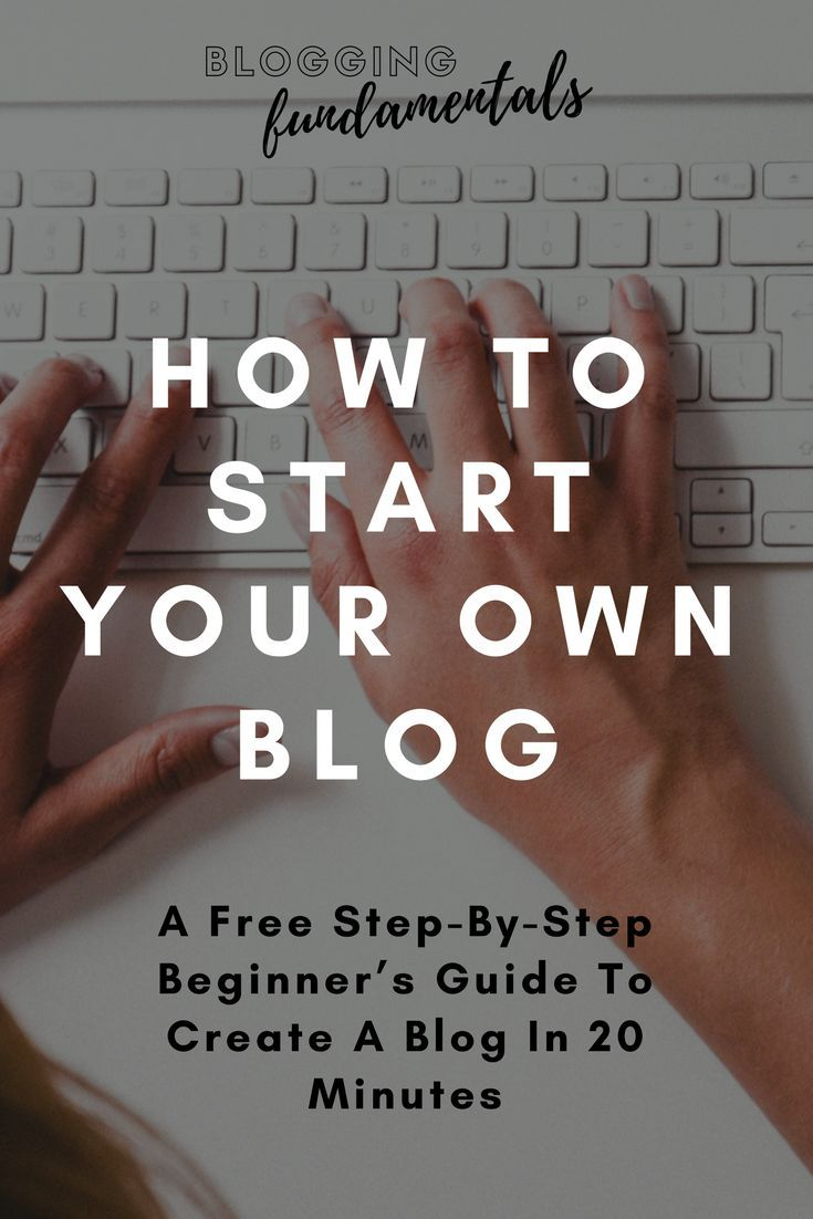 A free step-by-step guide to starting your own blog in 20 minutes... what's stopping you?