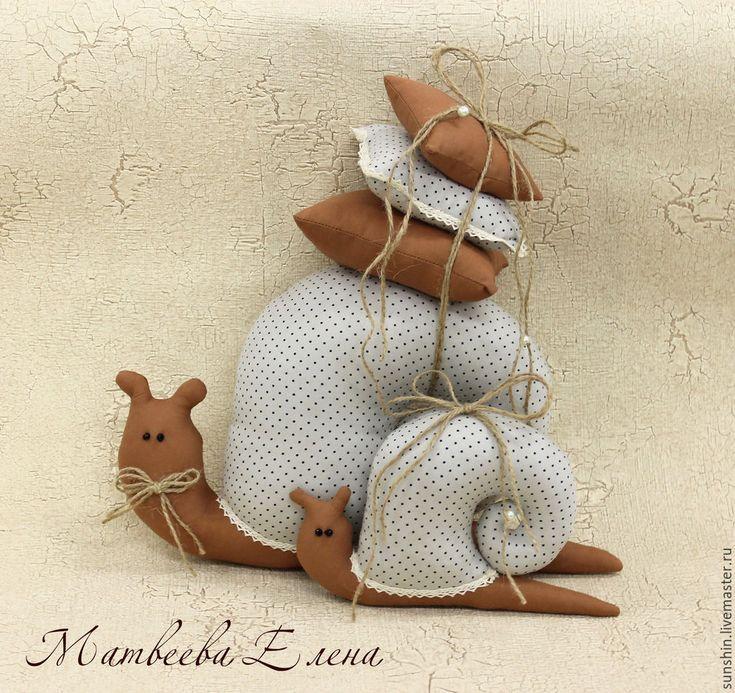 Улитка Ульяна с дочерью (повтор) - коричневый, улитка, улитка Тильда, улиточка, улитки, handmade