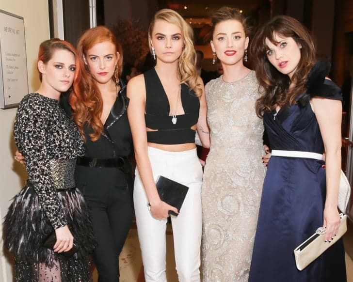 Pin for Later: The 59 Most Memorable Moments From Past Met Galas Kristen Stewart, Riley Keough, Cara Delevingne, Amber Heard, and Zooey Deschanel — 2014