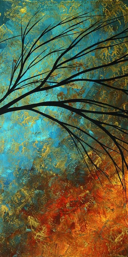 Abstract Landscape Art Passing Beauty 4 Of 5 Painting by Megan Duncanson - Abstract Landscape Art Passing Beauty 4 Of 5 Fine Art Prints and Posters for Sale