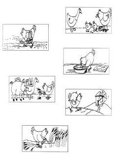 fichas de trabalho sobre historia galinha ruiva - Pesquisa do Google