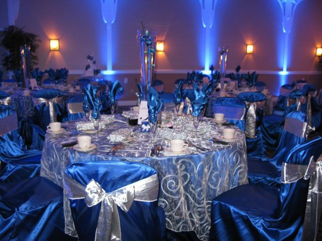 Blue White And Gold Wedding Decor : Wedding lighting ft lauderdale green screen fort