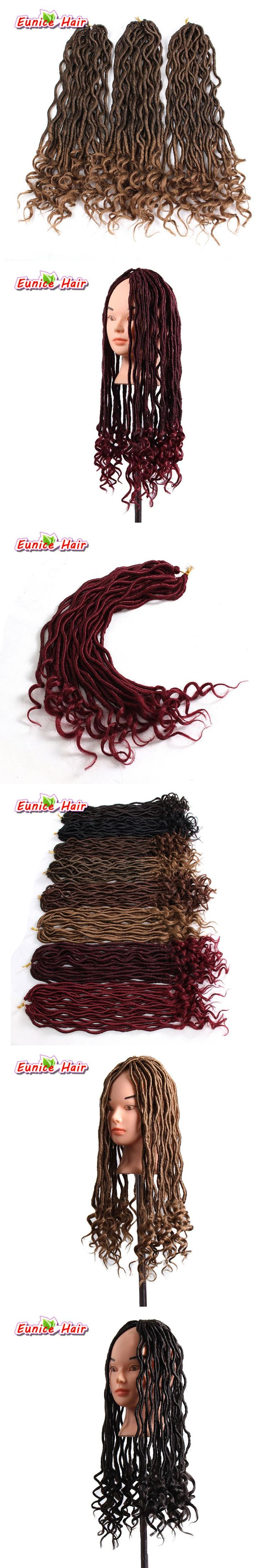 24 Roots Faux Locs Curly Crochet Hair 20 inch Crochet Braids Synthetic Hair Extensions For Black Women 3 packs/Lot