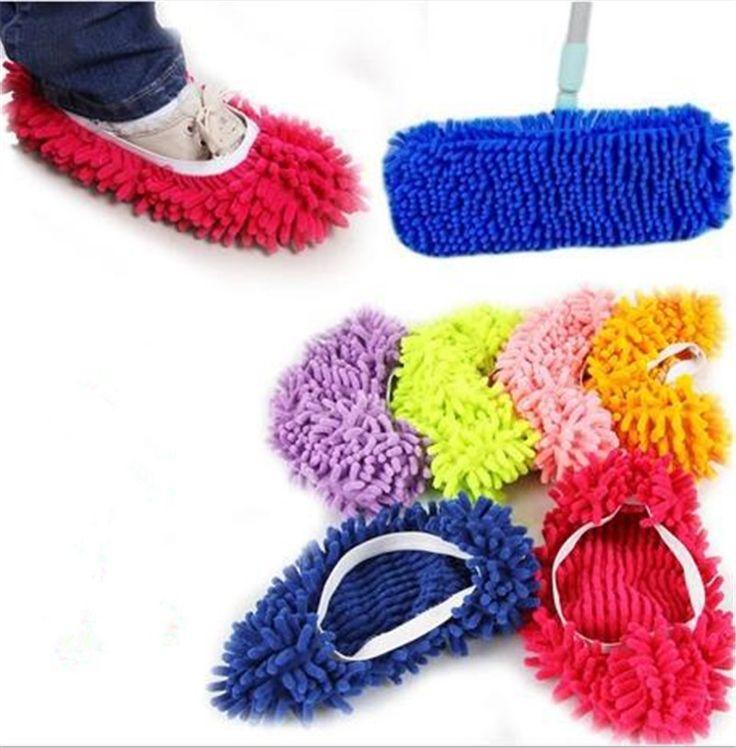 1 Pezzo In Microfibra Mop Piano di Pulizia Pigro Pantofole Fuzzy Casa Pavimenti di Casa Strumenti di Scarpe Bagno Cucina Cleaner