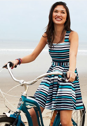 Nautical Stripe Dress: Summer Dresses, Nautical Stripes, Dreams Closet, Strips, Nautical Dresses, Dresses Casual, The Dresses, Stripes Dresses, Vintage Bike
