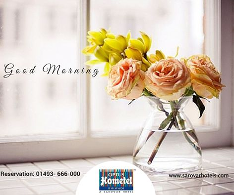 May your week blossoms like a flower... Make all of your Business trip fruitful with us. Please Call us for Reservation: 01493- 666-000 #Monday #BusinessHotel #Hotel #Bhiwadi